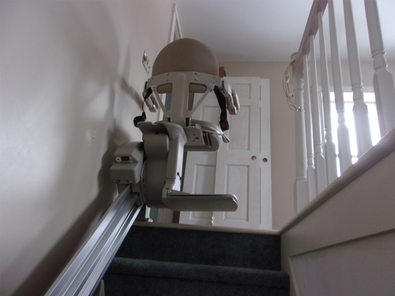 a stairlift upstairs
