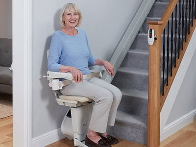 Woman Using Stair Chair