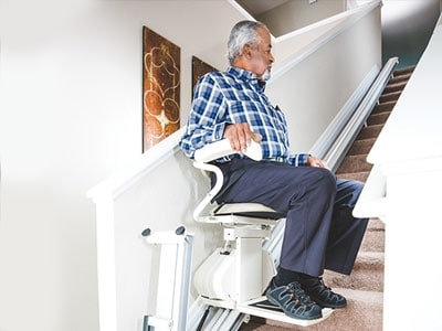 Man Using Stair Lift